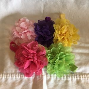 Other - Lot of 5 flower headbands - up to 12 Months!